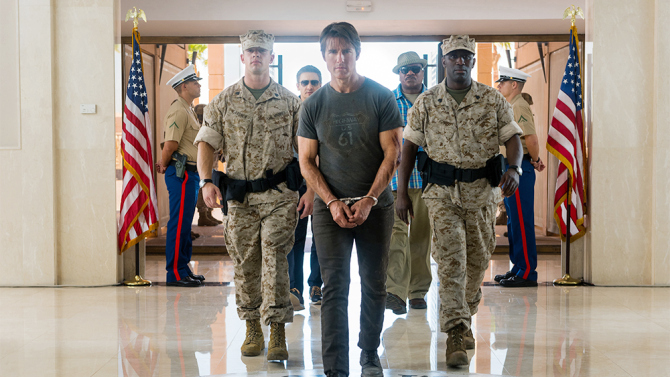 Left to right: Jeremy Renner plays William Brandt, Tom Cruise plays Ethan Hunt and Ving Rhames plays Luther Stickell in MISSION: IMPOSSIBLE - ROGUE NATION by Paramount Pictures and Skydance Productions